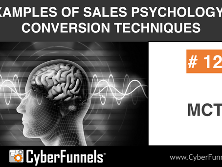 19 EXAMPLES OF SALES PSYCHOLOGY AND CONVERSION TECHNIQUES #12 - MCT