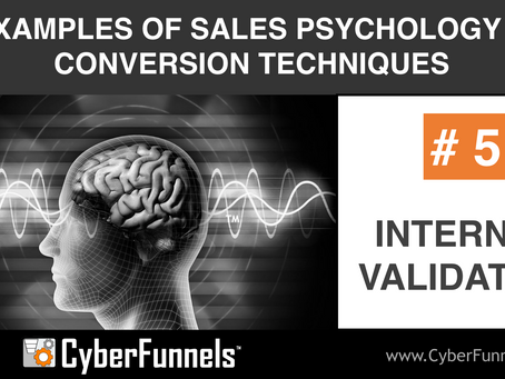 19 EXAMPLES OF SALES PSYCHOLOGY AND CONVERSION TECHNIQUES #5 - INTERNAL VALIDATION