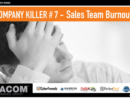 COMPANY KILLER # 7 - Sales Team Burnout