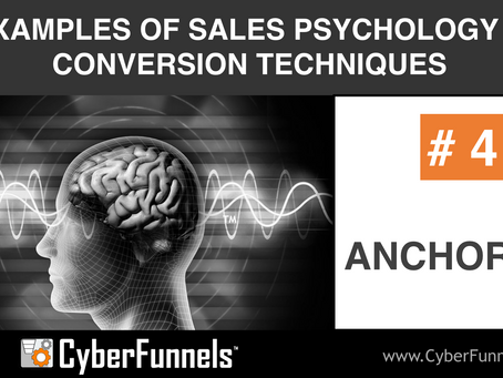 19 EXAMPLES OF SALES PSYCHOLOGY AND CONVERSION TECHNIQUES #4 - ANCHORING