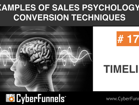 19 EXAMPLES OF SALES PSYCHOLOGY AND CONVERSION TECHNIQUES #17 - TIMELINE