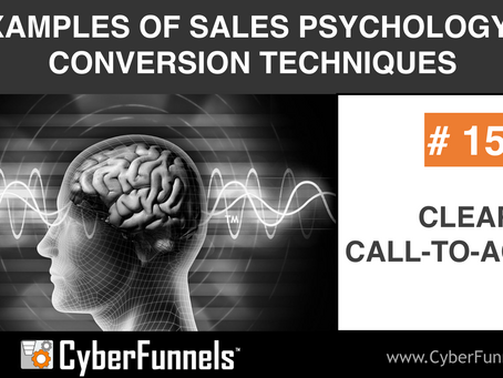 19 EXAMPLES OF SALES PSYCHOLOGY AND CONVERSION TECHNIQUES #15 - CLEAR CALL-TO-ACTION