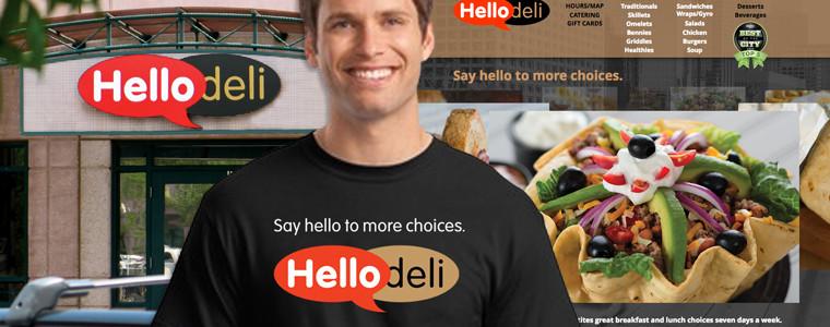 Hello Deli   Logo, Signage, Apparel, Website