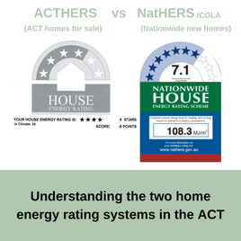 EER's in the ACT: 6⭐ ActHERS vs 10⭐ NatHERS