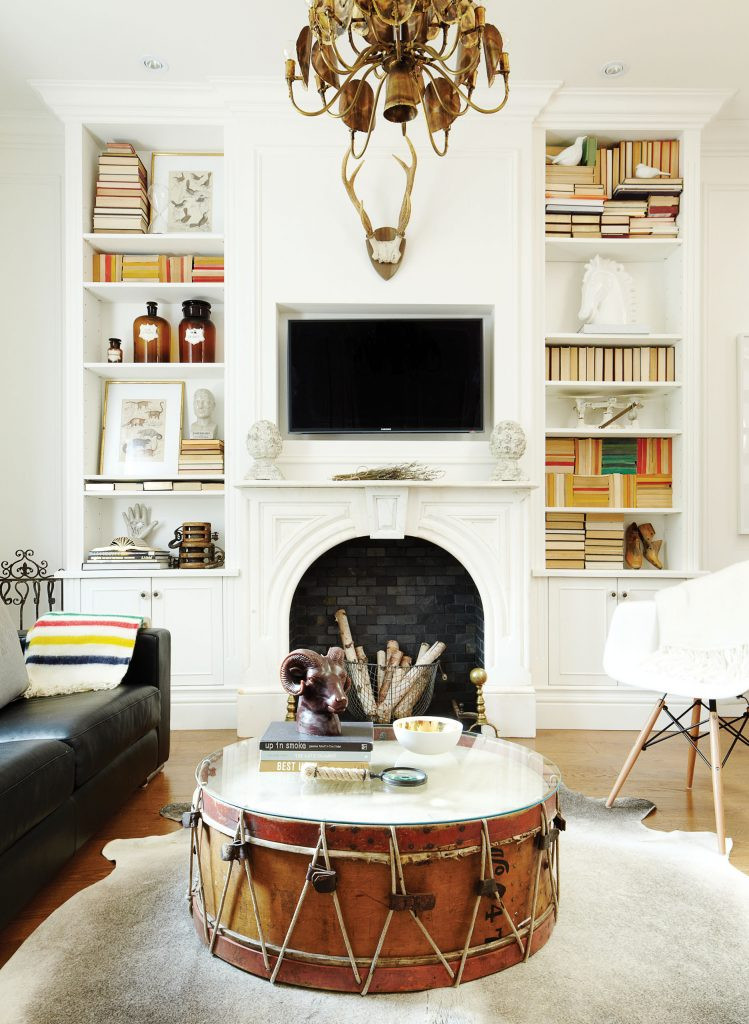 Make use of existing items by rearranging your space.