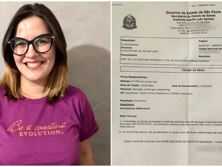 Estrangeira é 'dada como morta' após fazer exame de Covid-19: 'Um absurdo'