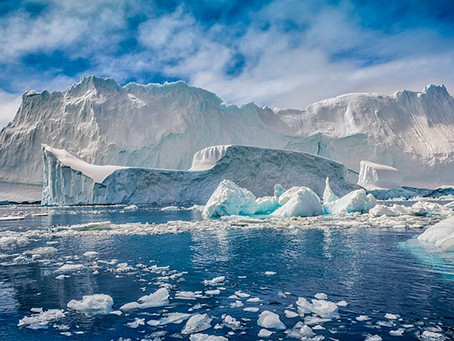 O planeta ganha mais um oceano, o Antártico