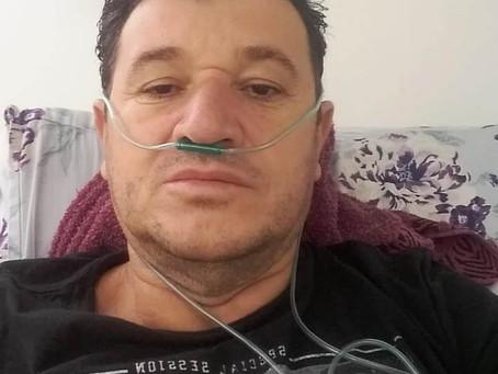 Aos 48, homem foi internado por covid-19 com 45% do pulmão comprometido