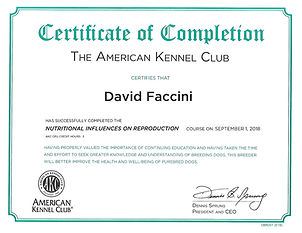 CERTIFICATE OF COMPLETION NUTRITIONAL IN