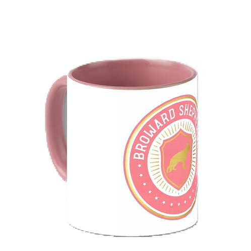 11 oz. Pink Accent Mug