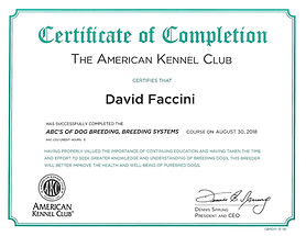 CERTIFICATE OF COMPLETION ABCS OF DOG BR
