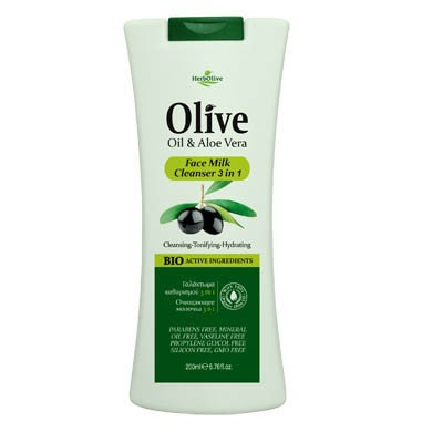 Olive Oil & Aloe Vera Face Milk Cleanser 3 in 1