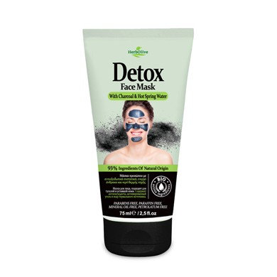 Detox Face Mask with Charcoal& Hot Spring Water