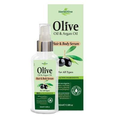 Olive Oil& Argan Oil Hair& Body Serum for All Types