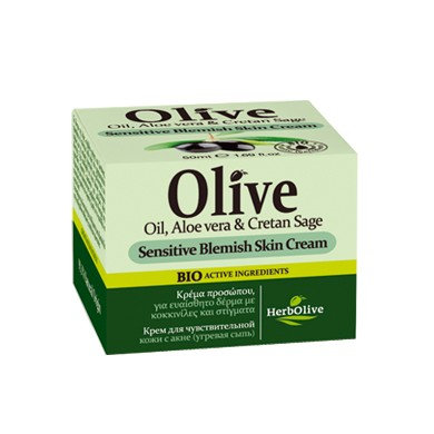 Olive Oil, Aloe vera & Cretan Sage Sensitive Blemish Skin Cream