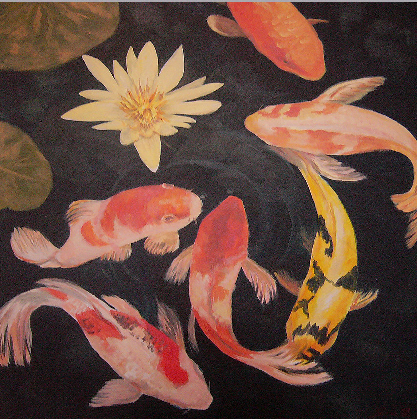Kois - Acrylic on canvas