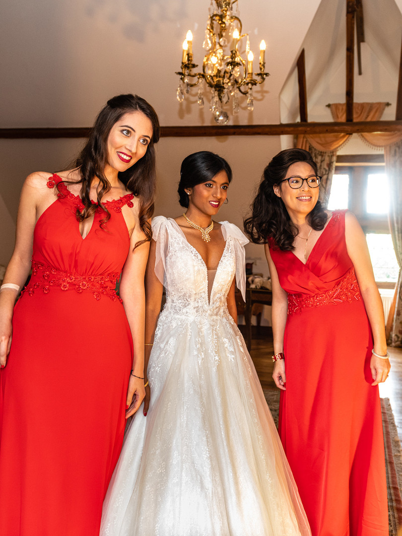 Maquillages mariée & témoins mariage Nithya