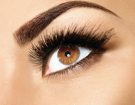 Brown Eyes with beautful Eyelash Extensions