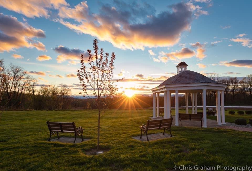 Memorial Garden at Sunset