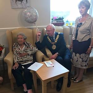 Kath's 103rd Birthday & Mayor's visit