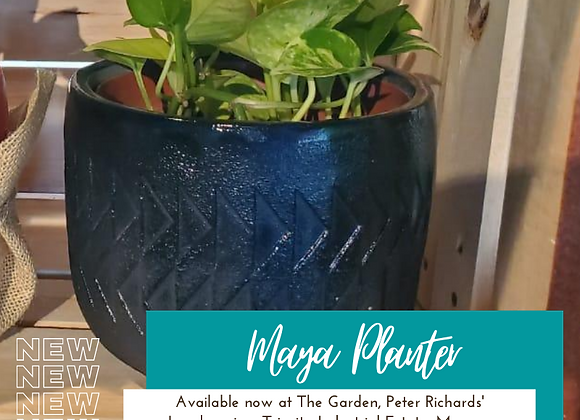 Maya Concrete Planter (shown in Black) by so.hippie