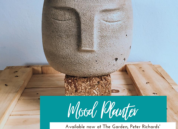Mood Concrete Planter (shown in Natural) by so.hippie