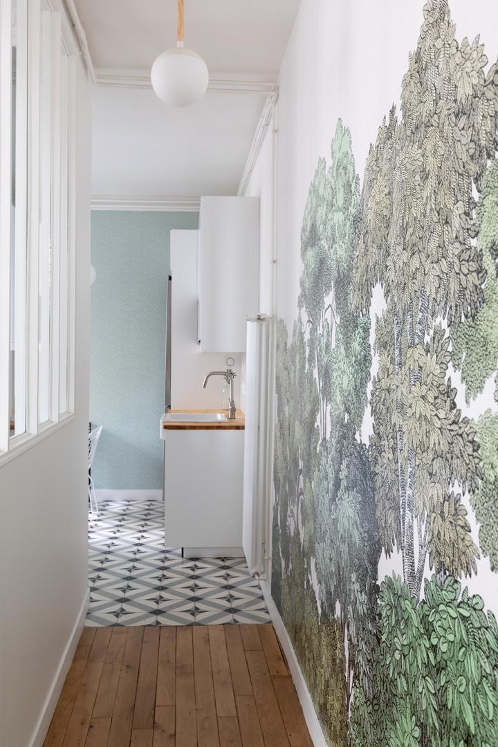 Couloir cuisine Paris 17