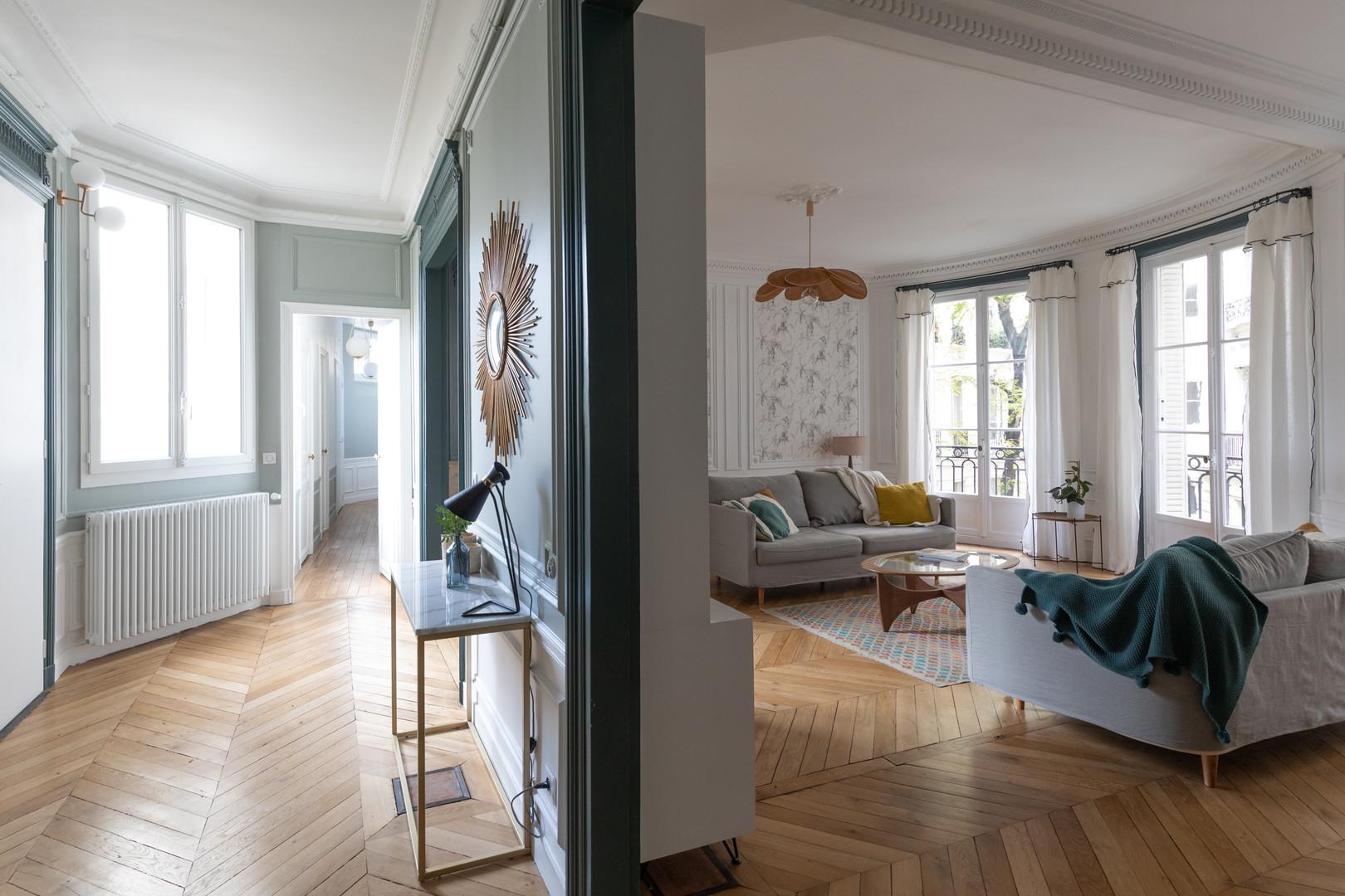 Entrée et salon Paris 17