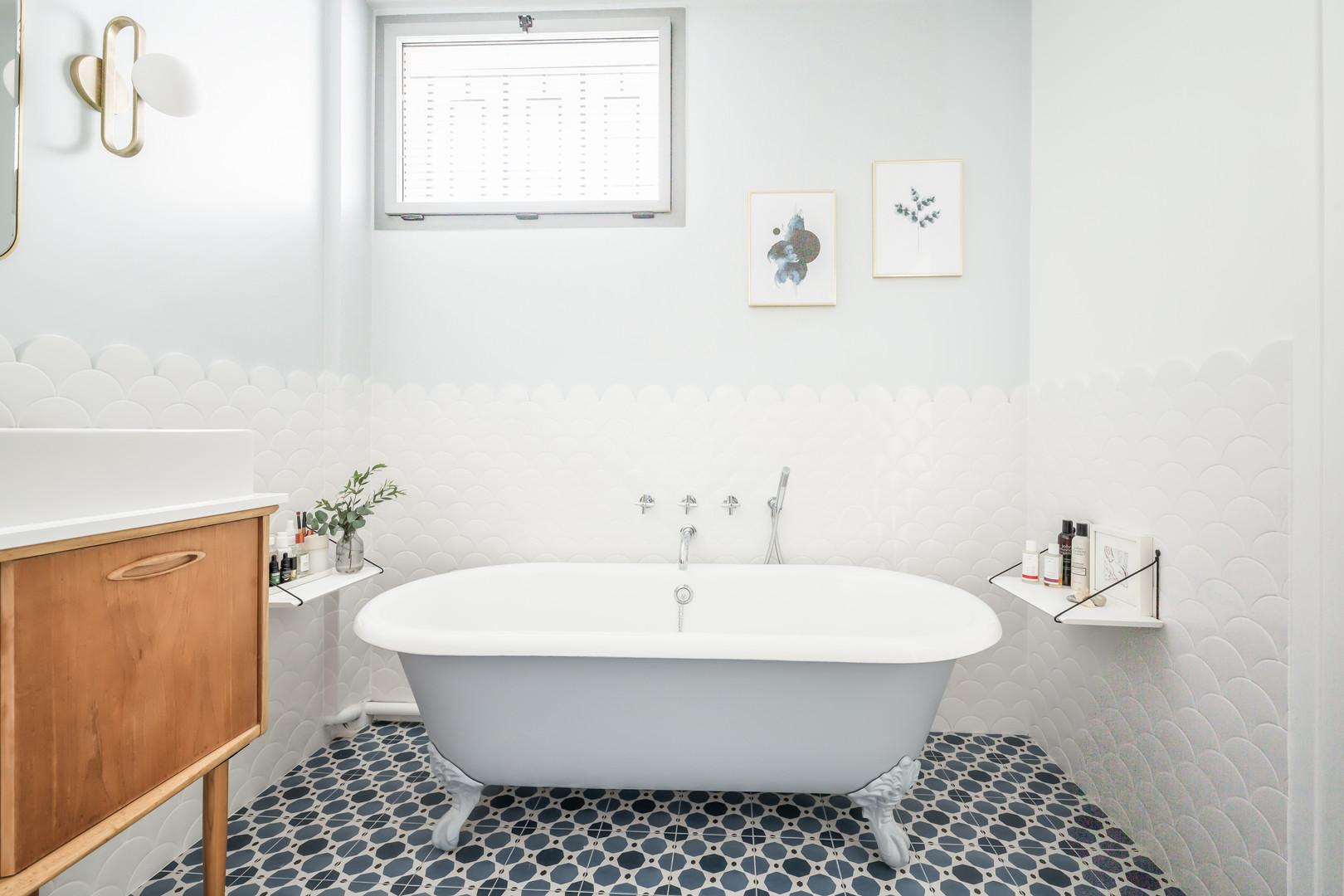 Baignoire salle de bain parentale