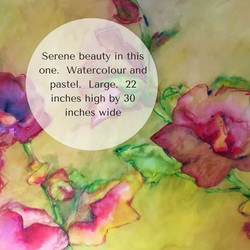 Serene beauty in this one. Watercolour and pastel. Large. 22 inches high by 30 inches wide