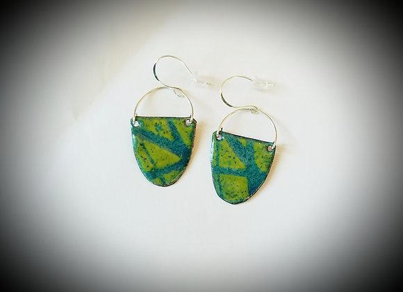 Silver & Enamel Earrings