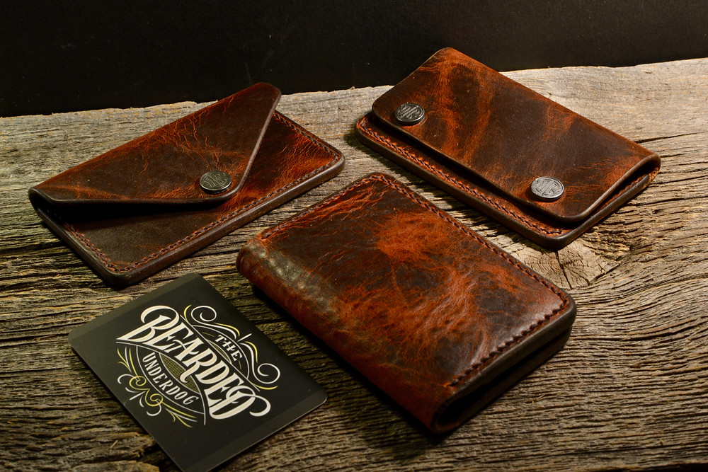 Autumn Harvest handmade leather wallets