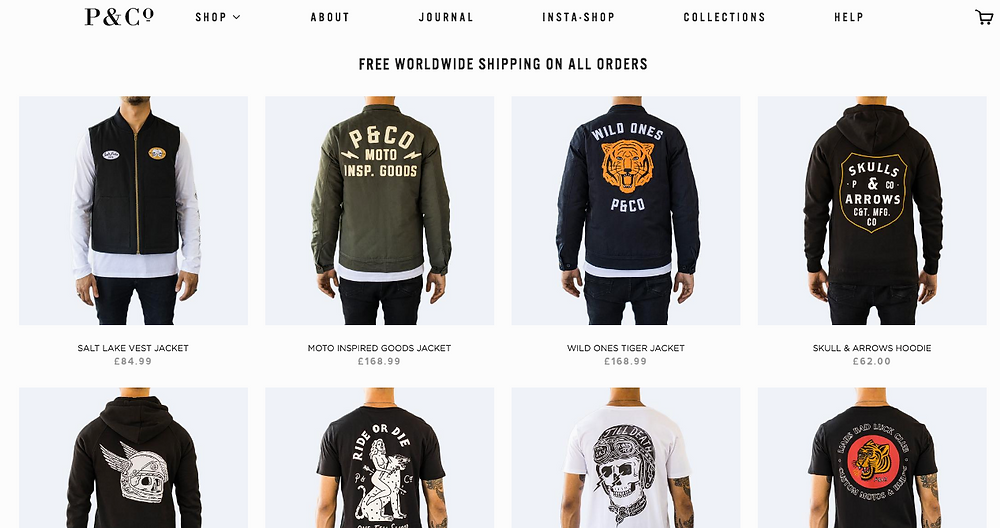 P&Co website for The Bearded Underdog Top Brands