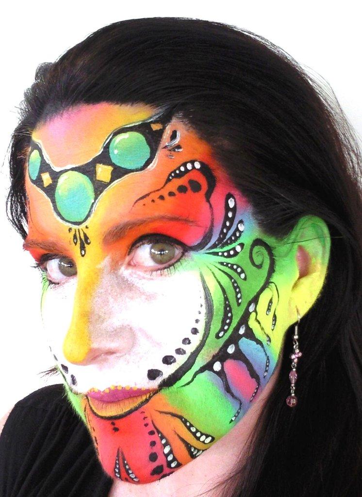 Cirque+De+Soleil+Face+Painting