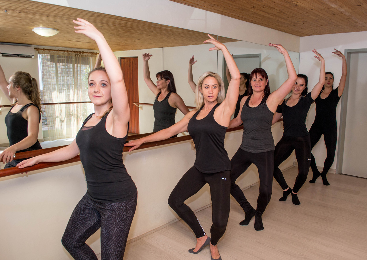 Barre Time classes in a group setting, join us with a chair or a counter from home