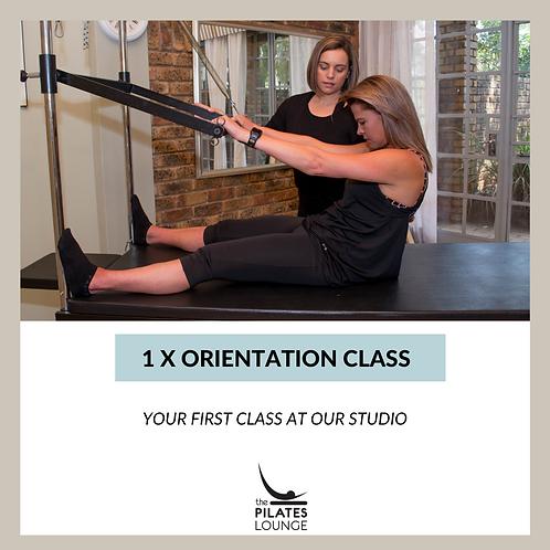 1 x Orientation Class