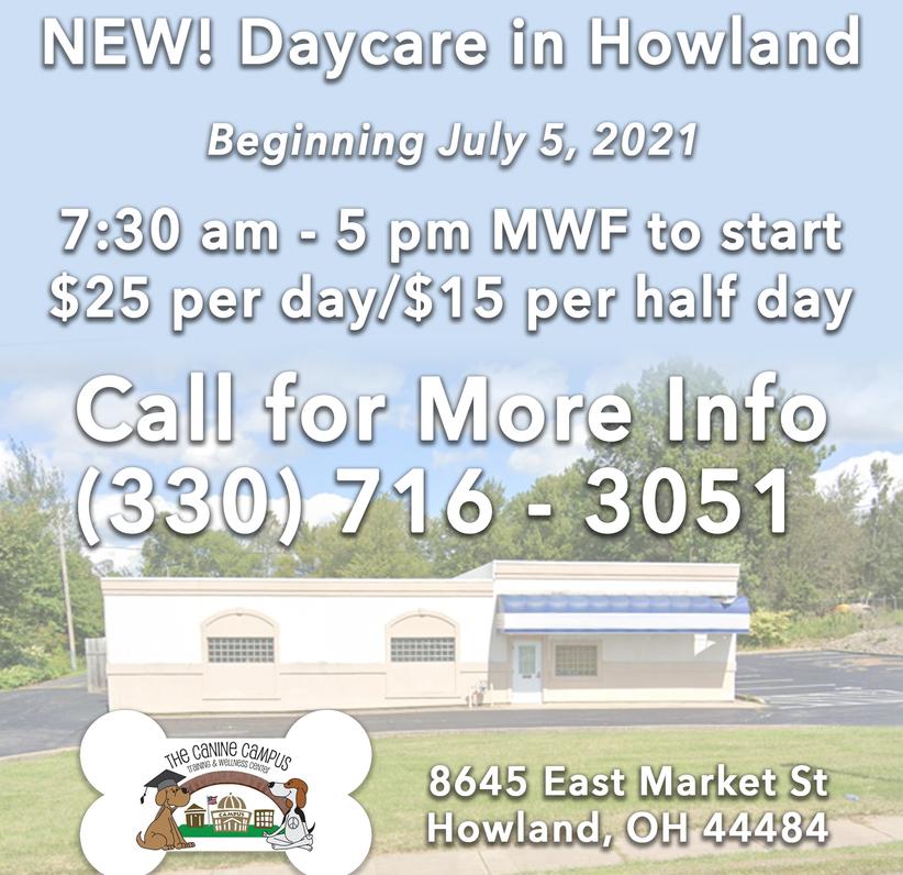 New Howland Center Daycare beginning August 2021!
