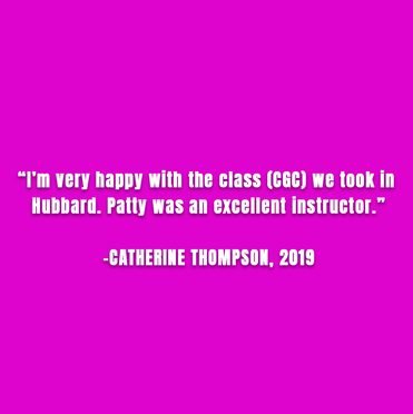 Catherine Thompson, 2019