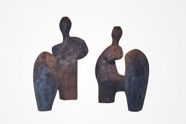 Pareja Sentada en Dos Módulos, 1987