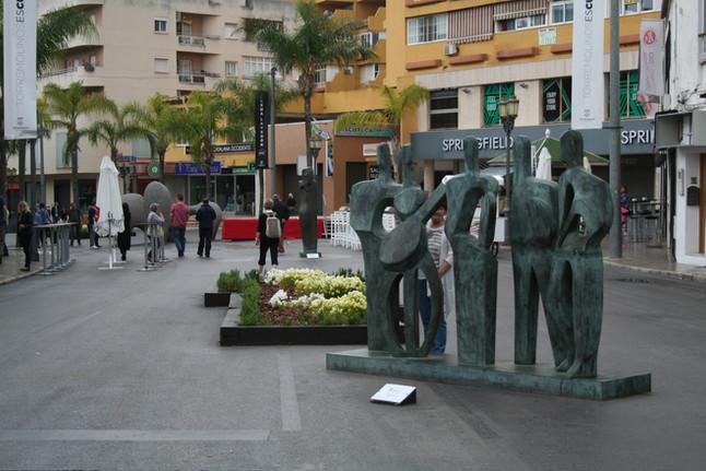 Elena Laverón convierte el centro de Torremolinos en un museo