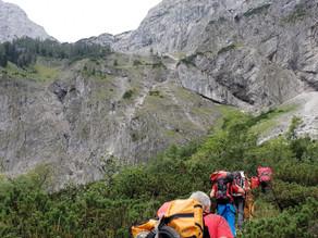 Großes Glück nach Absturz eines Bergsteigers am Sepp-Huber-Steig in Grünau