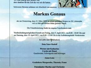 Wir trauern um Markus Gonaus