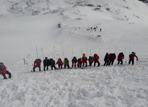 Lawinenübung der Bergrettung Ebensee
