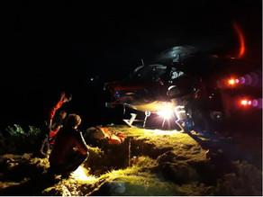 Nächtliche Hubschrauberbergung von der Riederhütte