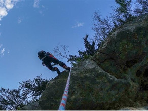 Erschöpfte Kletterin aus Echernwand Klettersteig geborgen