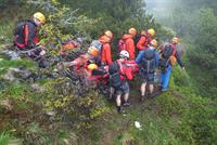 Sommergroßübung des Bergrettungsdienst Bad Goisern