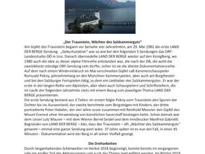 Land der Berge mit Statisten aus der Bergrettung Gmunden