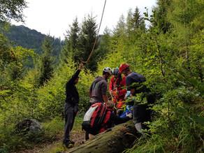 Ebensee: Bergung nach Beinverletzung am Gasselhöhlenweg