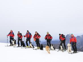 Winterkurs Hundestaffel bei Sturm & Regen