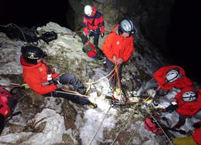 Rettungsaktion in der Nordwand des Krippensteins